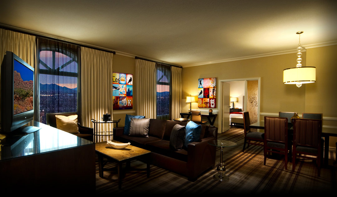 Sitting area in suite rooms at Boulder Station Hotel & Casino - low resolution
