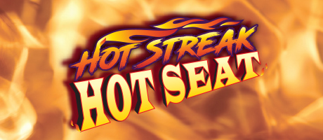 Hot Streak Hot Seat promotion with flames in the background